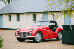 1963 TRIUMPH TR3 B – LHD – very rare - RED