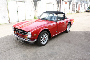 TR6 1974. ORIGINAL UK FUEL INJECTED CAR WITH OVERDRIVE SOLD
