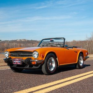 1976 Triumph TR6 Roadster = LHD clean Orange driver $22.9k For Sale