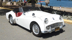 1960 Triumph TR3 Roadster = Restored Ivory(~)Red LHD $35k