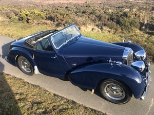 1949 Triumph Roadster 2000 older restoration, well maintained