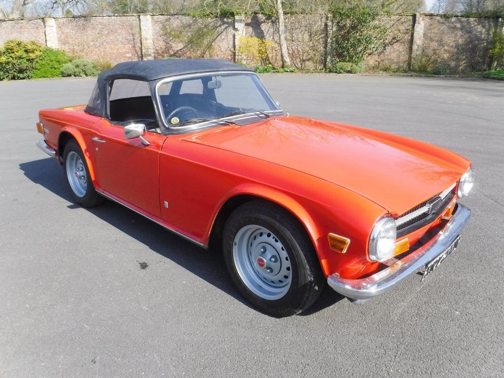 April Auction1974 Triumph Tr6 Roadster Sold By Auction Car And
