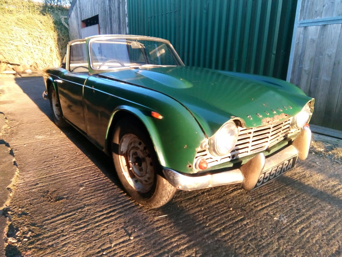 1963 TR4 RHD with Overdrive ORIGINAL UK Reg For Sale (picture 1 of 6)
