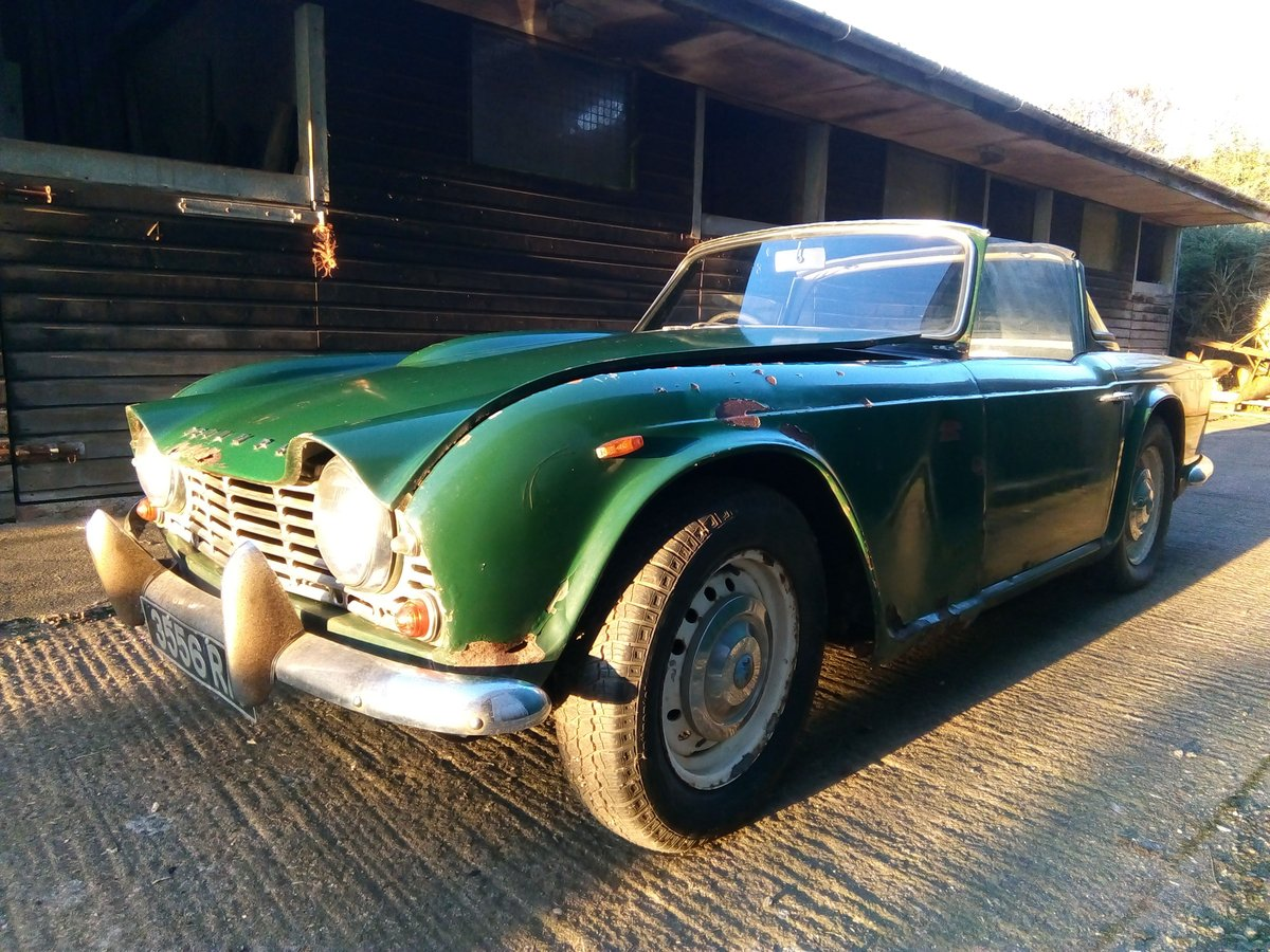 1963 TR4 RHD with Overdrive ORIGINAL UK Reg For Sale (picture 2 of 6)