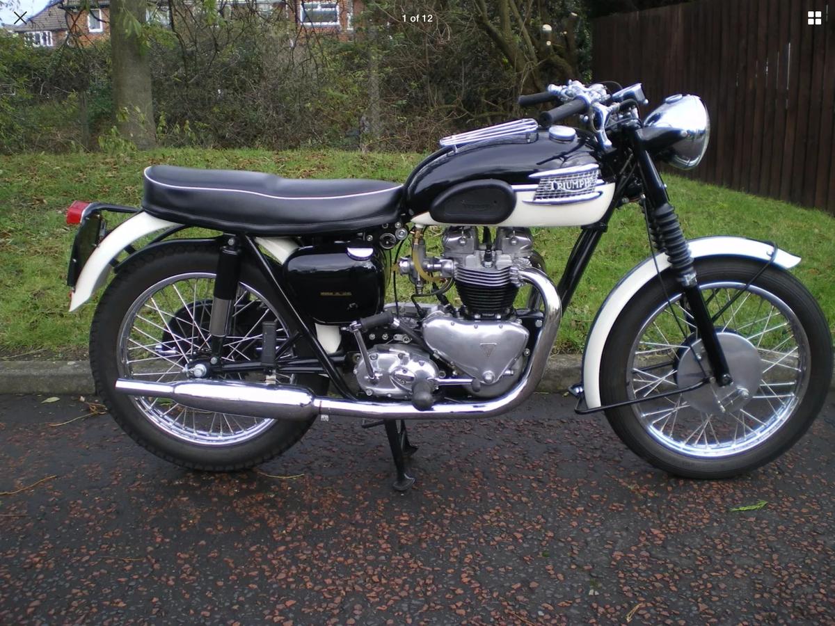 1960 Triumph T110, Bonneville - beautiful bike For Sale (picture 1 of 2)