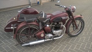 Triumph speed twin steib sidecar 1952