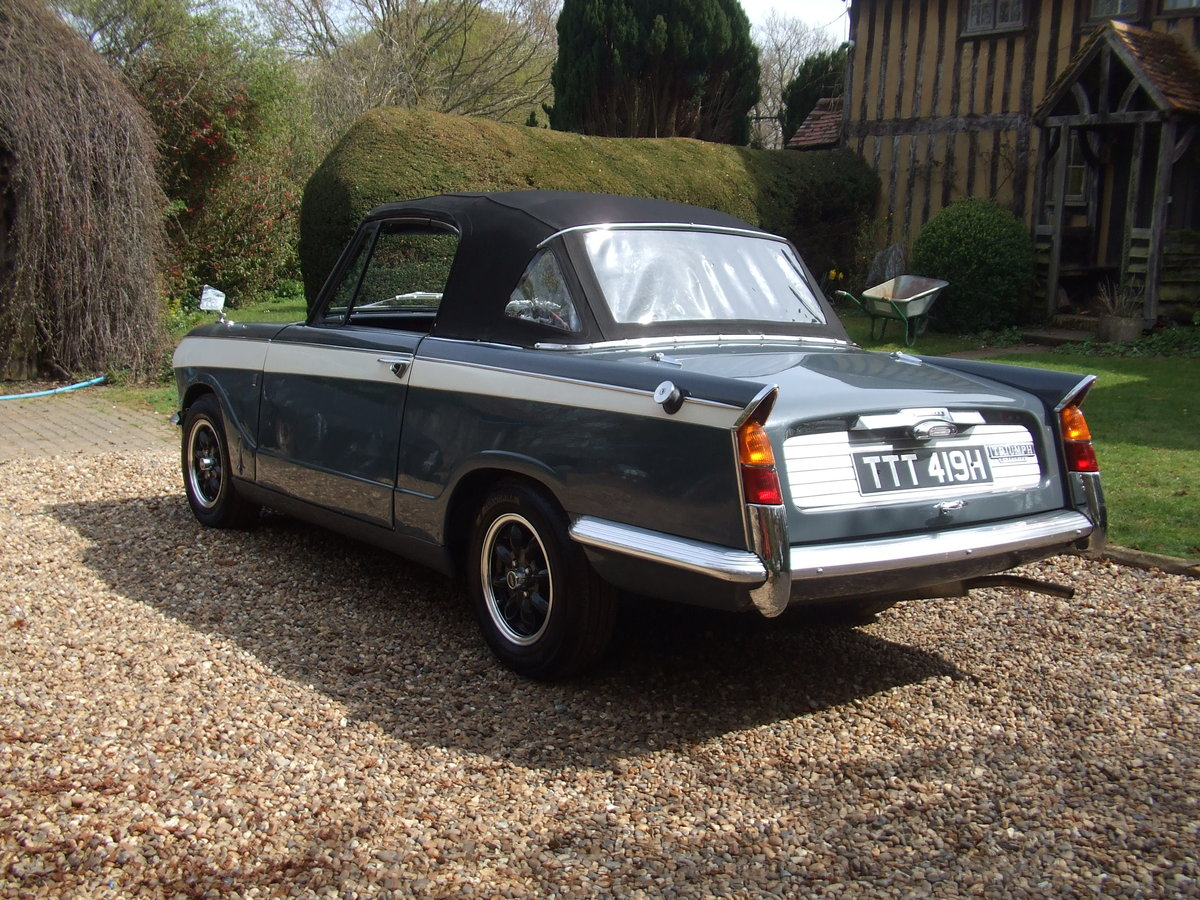 1970 VITESSE FACTORY CONVERTIBLE MK2 2L OVERDRIVE NOW SOLD SOLD (picture 4 of 6)