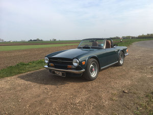 TR6 1972 MALLARD BLUE WITH TAN INTERIOR AND OVERDRIVE SOLD