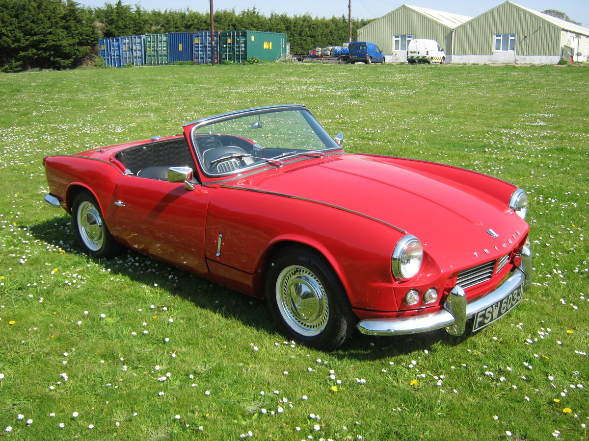 1966 TRIUMPH SPITFIRE MK2. OLDER RESTORATION. LOOKS AND DRIVES FA SOLD (picture 1 of 6)