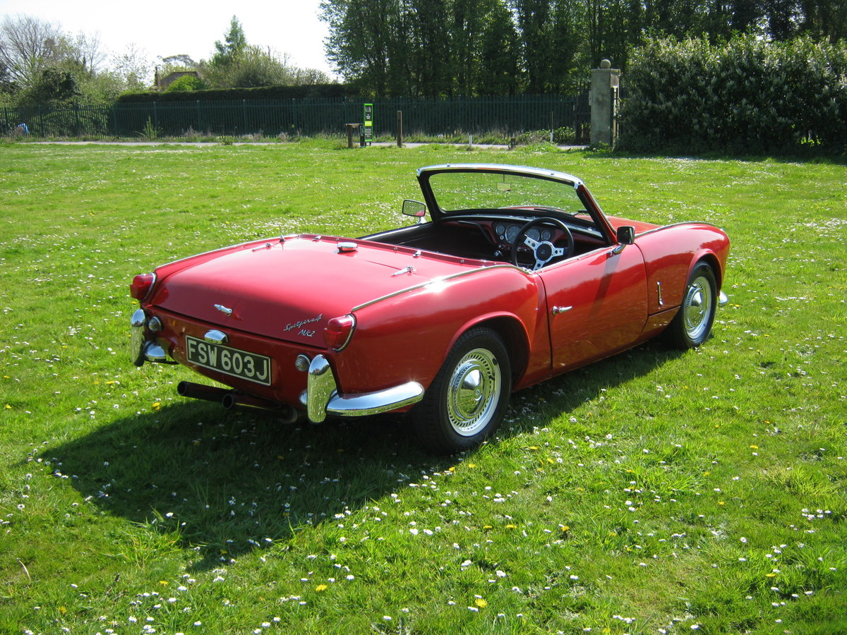 1966 TRIUMPH SPITFIRE MK2. OLDER RESTORATION. LOOKS AND DRIVES FA SOLD (picture 4 of 6)