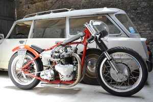 1952 TRIUMPH 650cc DRAG RACER. ORIGINAL. For Sale