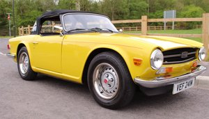 1973 Triumph TR6 With Stromburg Carburetors  BEAUTIFUL SOLD