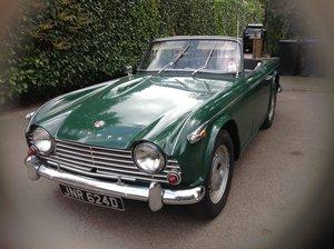 1966 Triumph Tr4a. Uk right hand drive For Sale