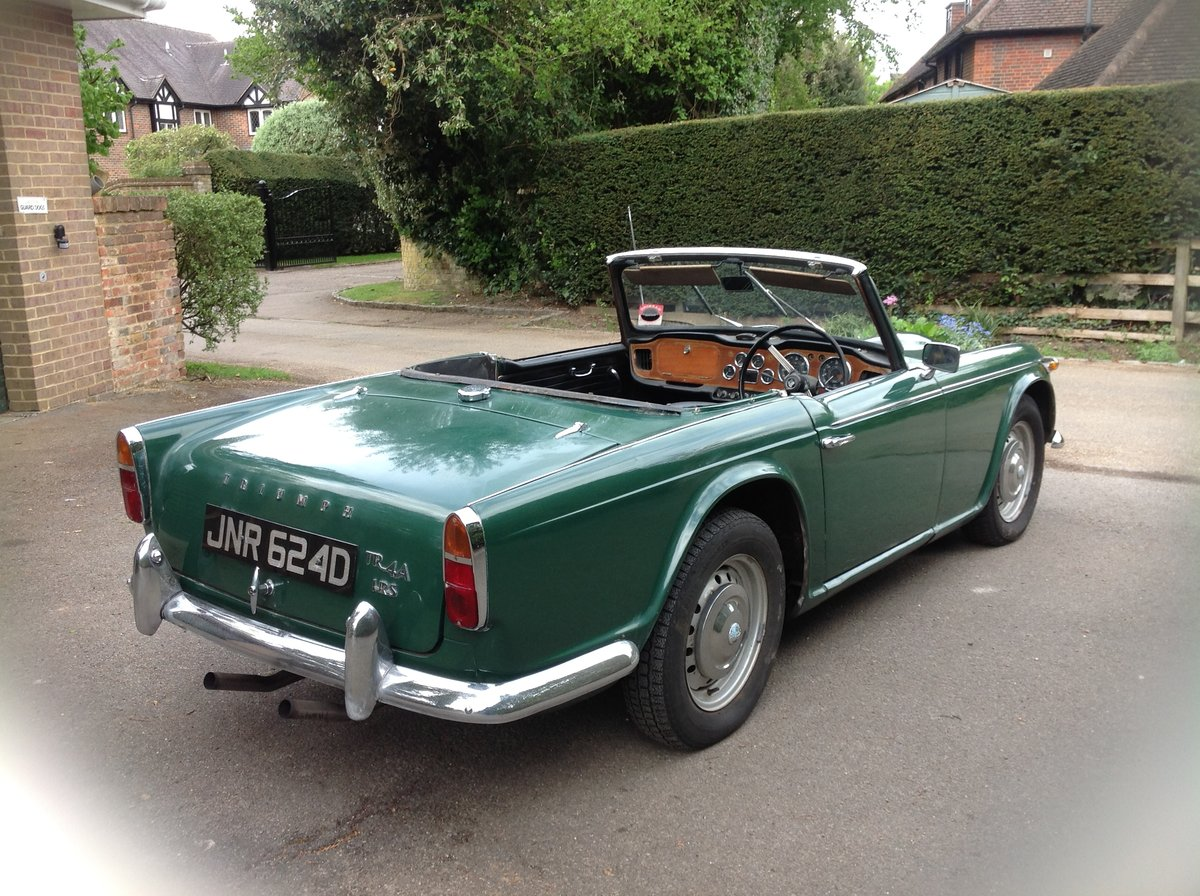 1966 Triumph Tr4a. Uk right hand drive For Sale (picture 5 of 6)