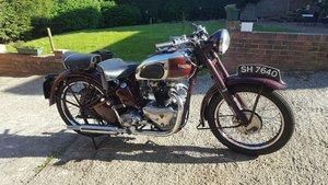 1947 Triumph Speedtwin. V5C. Restored. For Sale