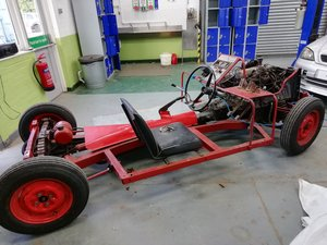 1960 Rare Triumph Herald display chassis. SOLD