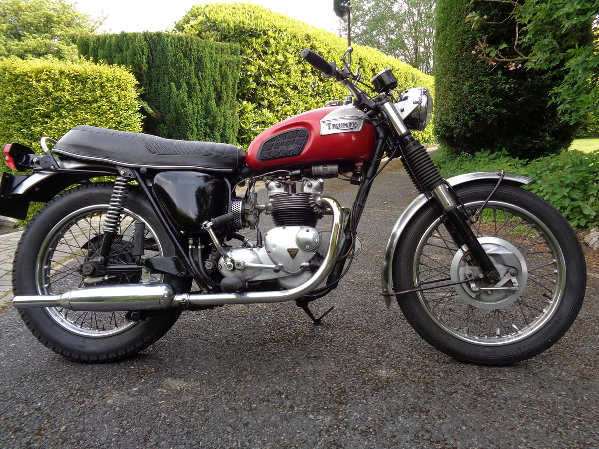 TRIUMPH 500 TROPHY  T100C 1971 MATCHING NUMBERS SOLD (picture 1 of 6)