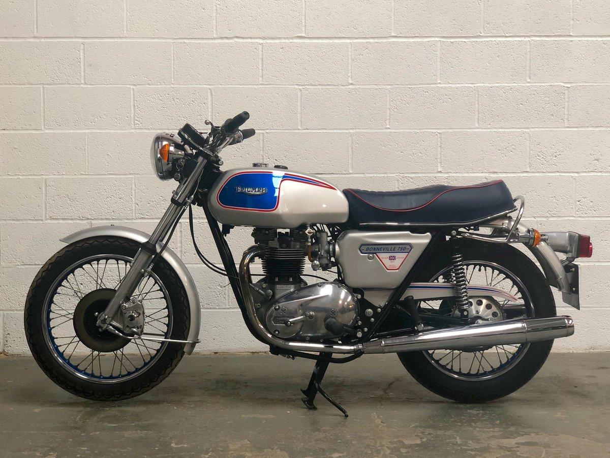 1977 Triumph T140J Jubilee Bonneville 750cc For Sale (picture 2 of 6)