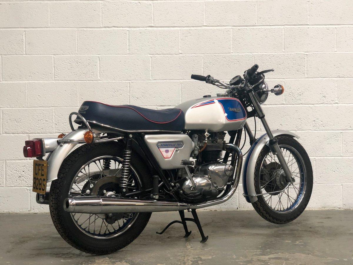 1977 Triumph T140J Jubilee Bonneville 750cc For Sale (picture 3 of 6)