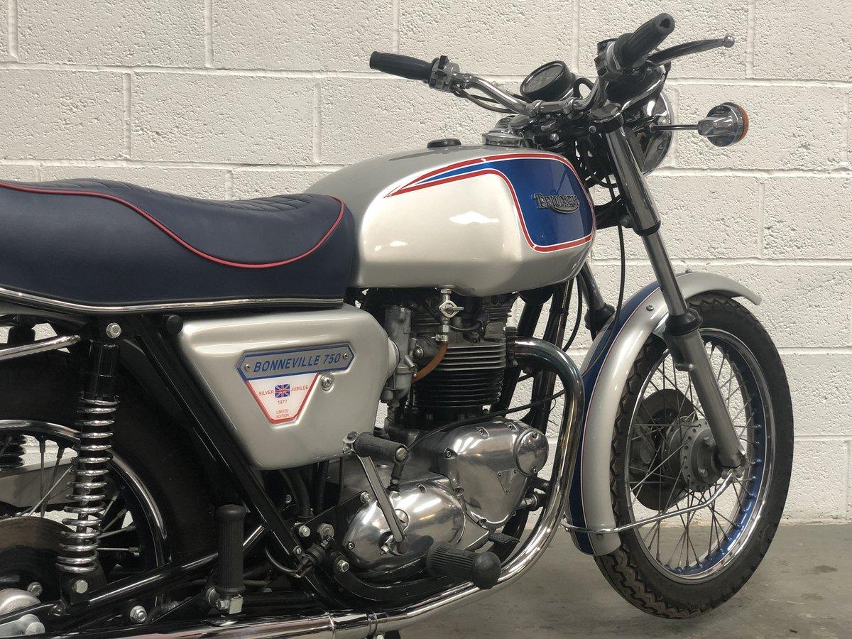 1977 Triumph T140J Jubilee Bonneville 750cc For Sale (picture 5 of 6)