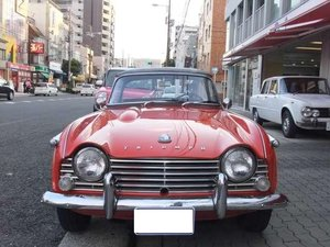 1964 triumph TR4 with Surrey top For Sale