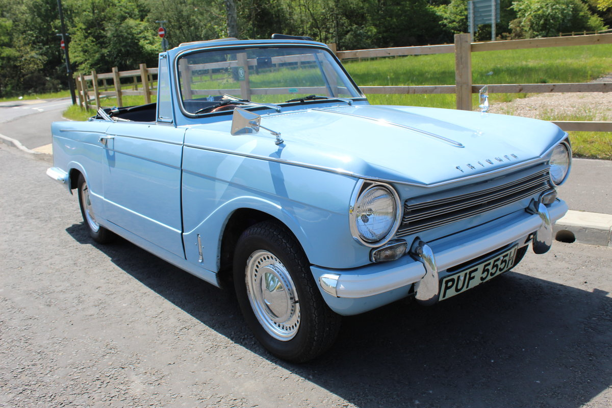 1969 Triumph Herald 13/60 Convertible 65,000 recorded miles  SOLD (picture 1 of 6)