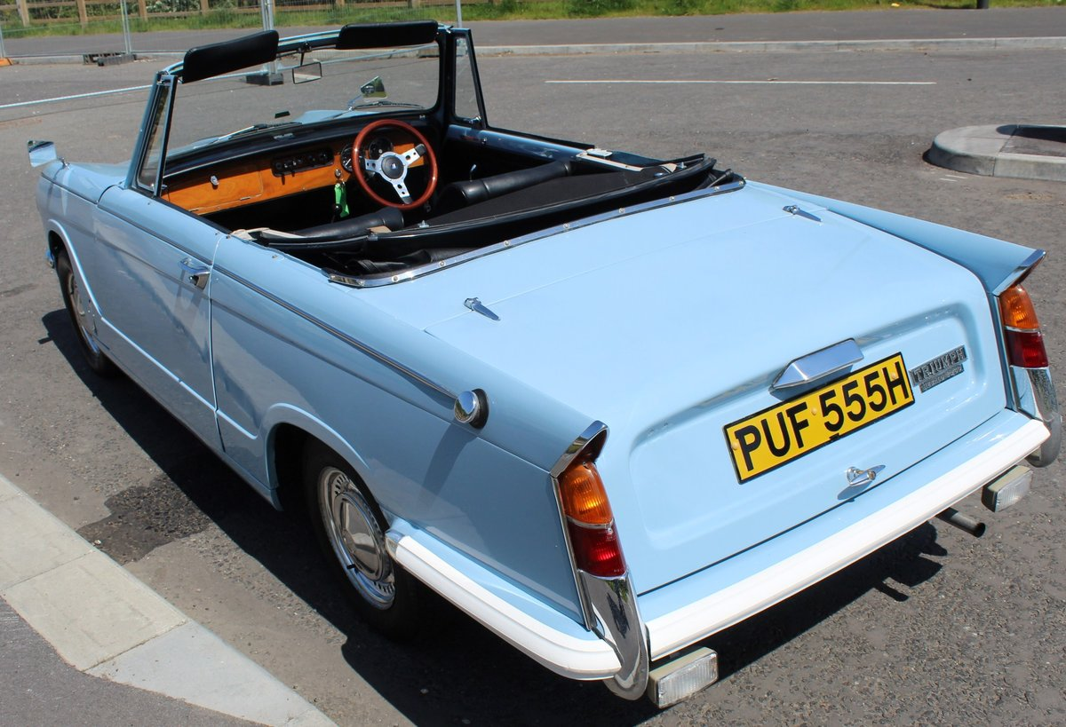 1969 Triumph Herald 13/60 Convertible 65,000 recorded miles  SOLD (picture 4 of 6)