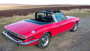 Excellent 1973 Triumph Stag in gleaming red. For Sale