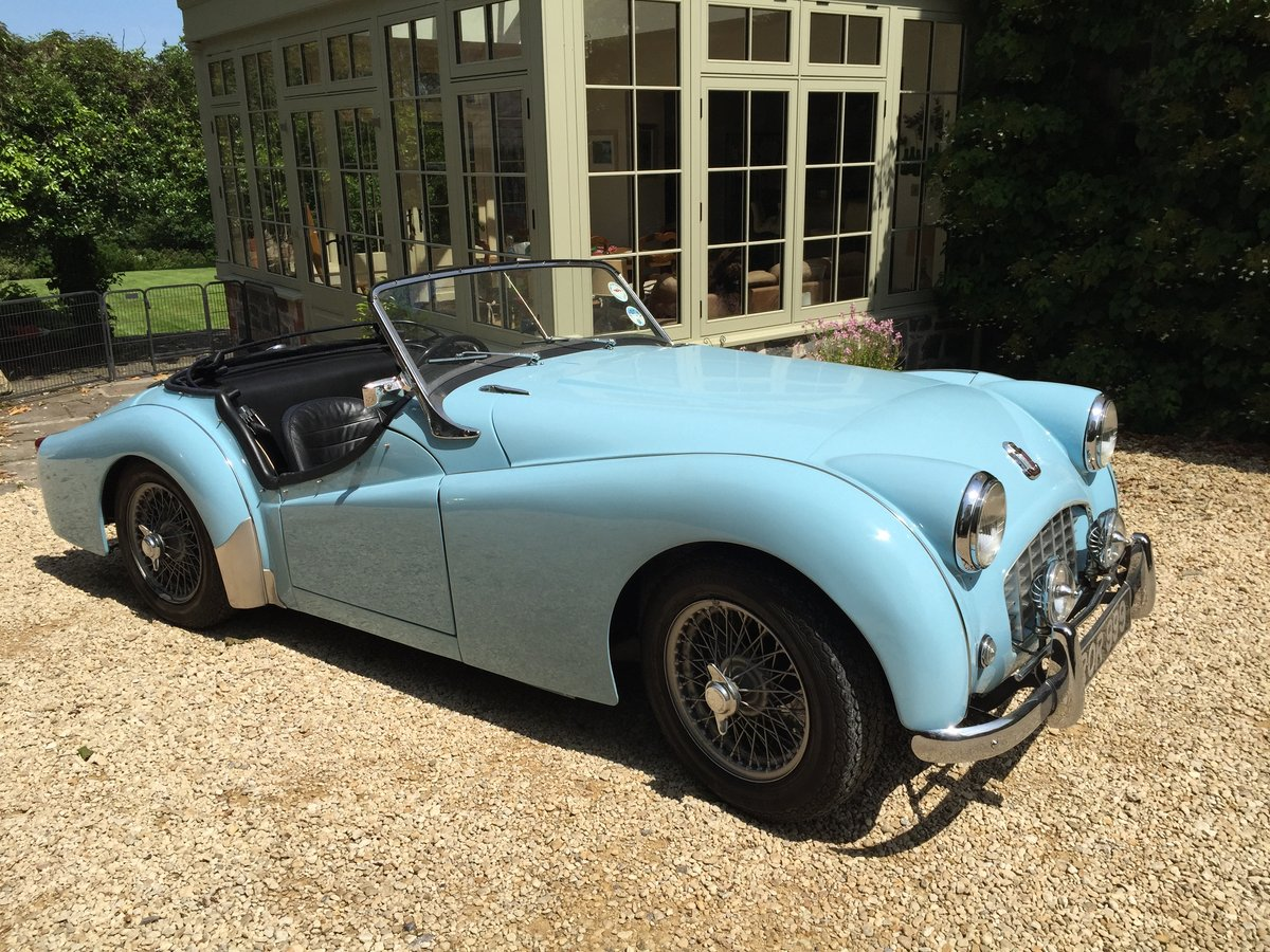 1957 Stunning TR3 in Baby Blue - Overdrive, RHD For Sale (picture 2 of 6)