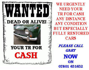 URGENTLY REQUIRED ALL MODELS TRIUMPH ANY CONDITION! Wanted
