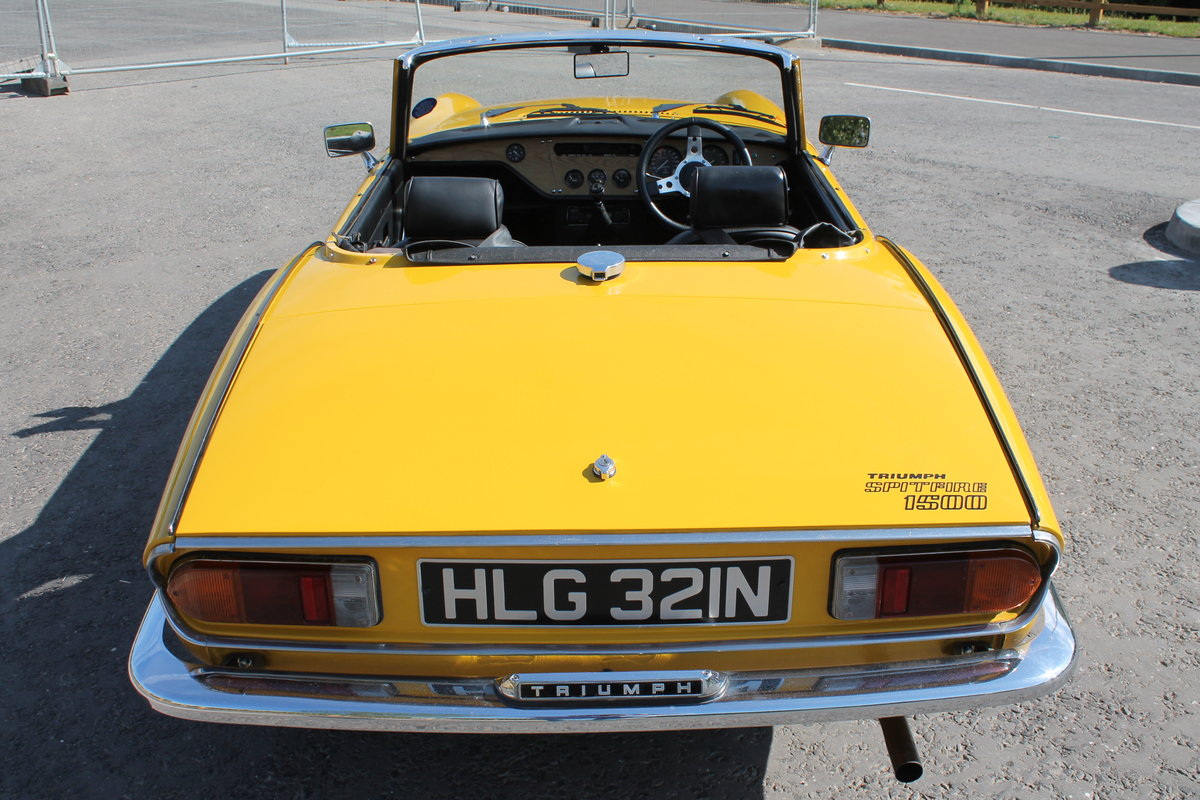 1975 Triumph Spitfire 1500 With Overdrive Excellent SOLD (picture 3 of 6)