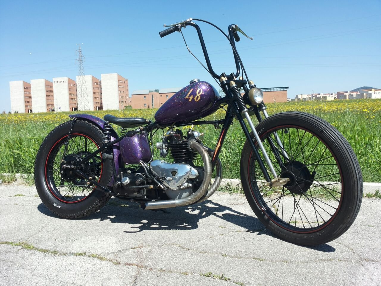 Picture of TRIUMPH 3T DELUXE 1948 CHOPPER/BOBBER (350cc) For Sale