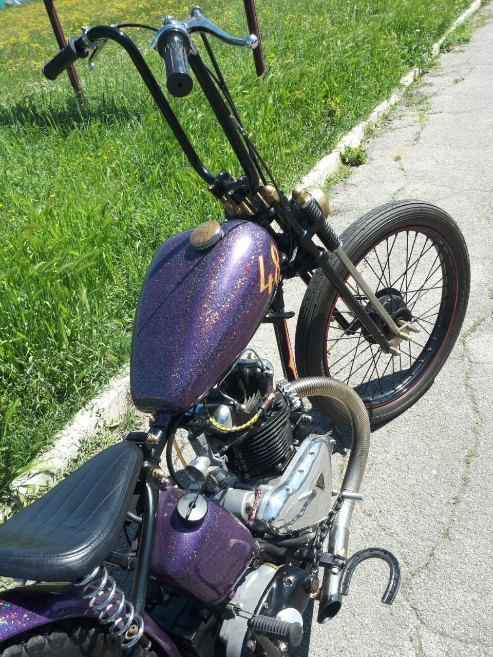 TRIUMPH 3T DELUXE 1948 CHOPPER/BOBBER For Sale (picture 2 of 6)