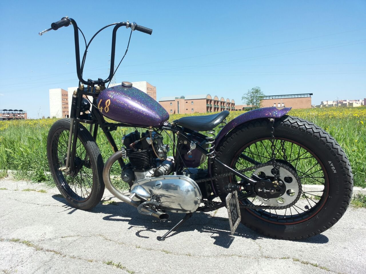 TRIUMPH 3T DELUXE 1948 CHOPPER/BOBBER For Sale (picture 3 of 6)