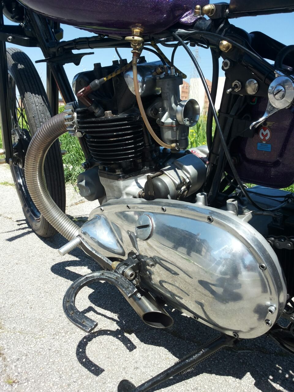 TRIUMPH 3T DELUXE 1948 CHOPPER/BOBBER For Sale (picture 4 of 6)