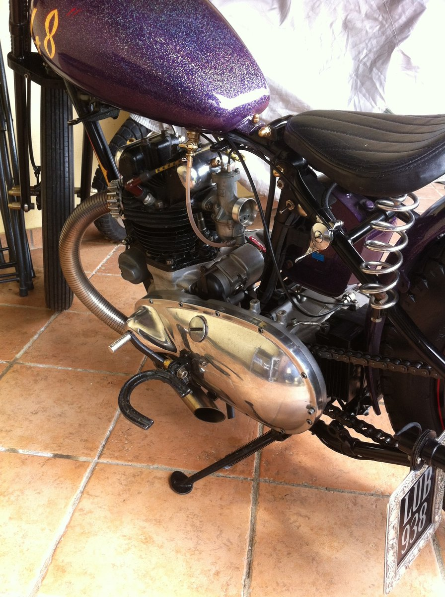 TRIUMPH 3T DELUXE 1948 CHOPPER/BOBBER For Sale (picture 5 of 6)
