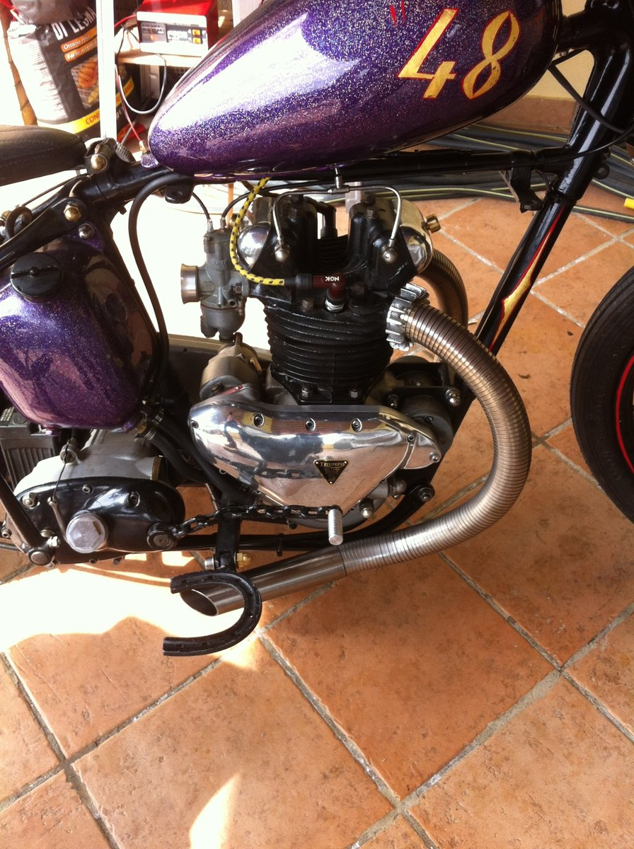 TRIUMPH 3T DELUXE 1948 CHOPPER/BOBBER For Sale (picture 6 of 6)
