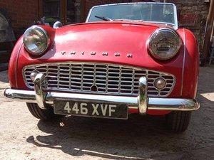 1962 Triumph TR3B at ACA 15th June  For Sale