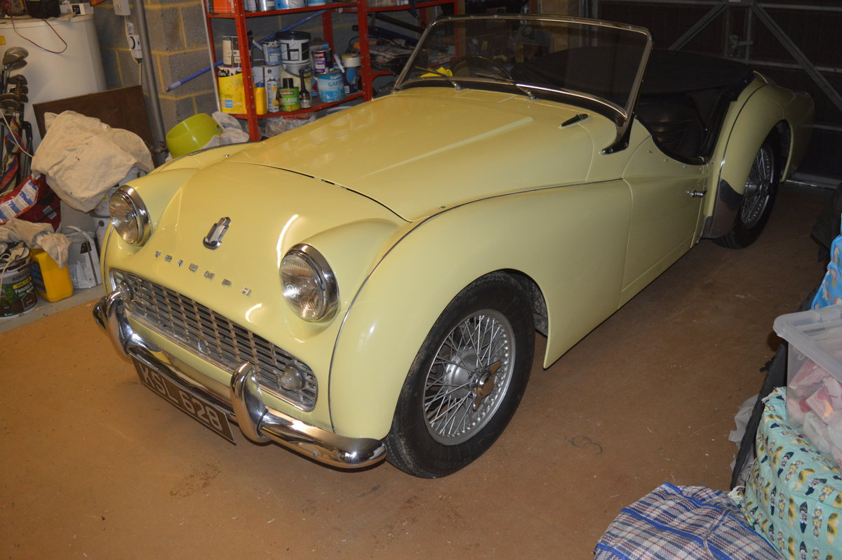 1959 Triumph TR3 A to be sold by auction Friday 12th July For Sale by Auction (picture 1 of 6)