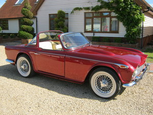 1966 TRIUMPH TR4A IRS WITH OVERDRIVE. SOLD