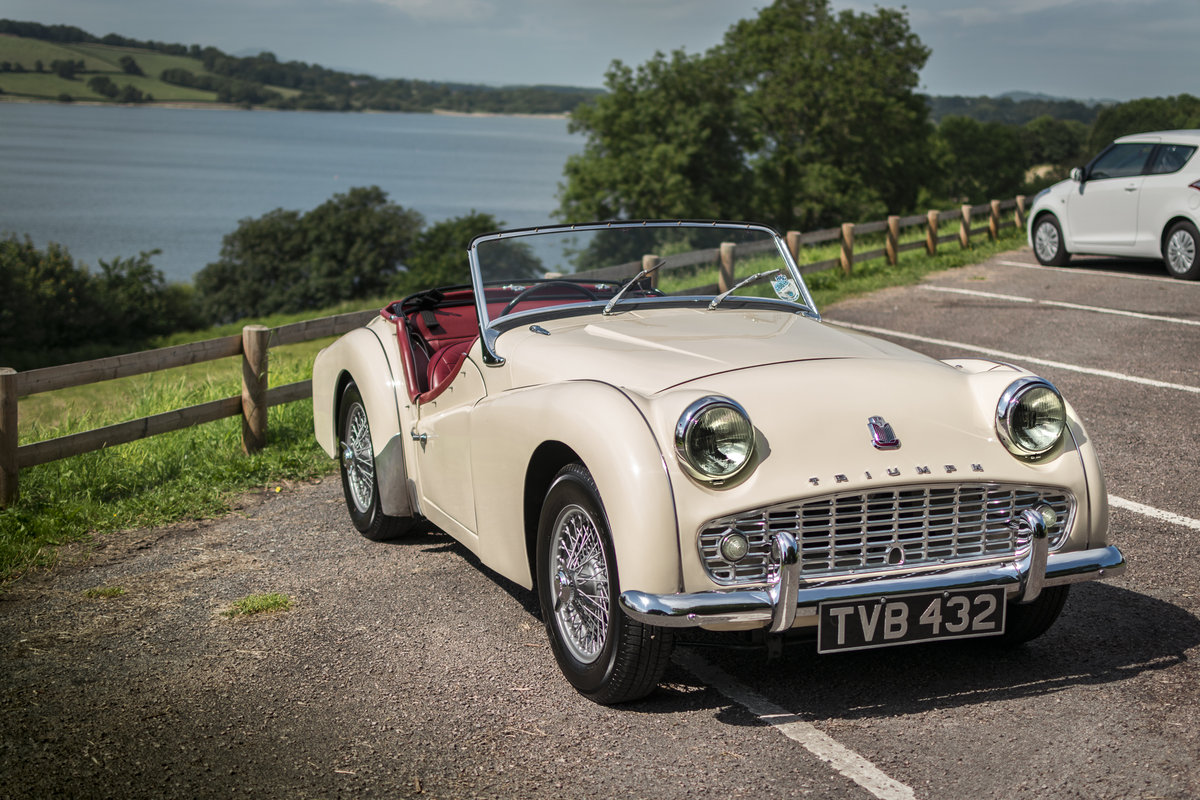 1958 Triumph TR3 A with works hard top, Beautiful condition SOLD (picture 1 of 6)