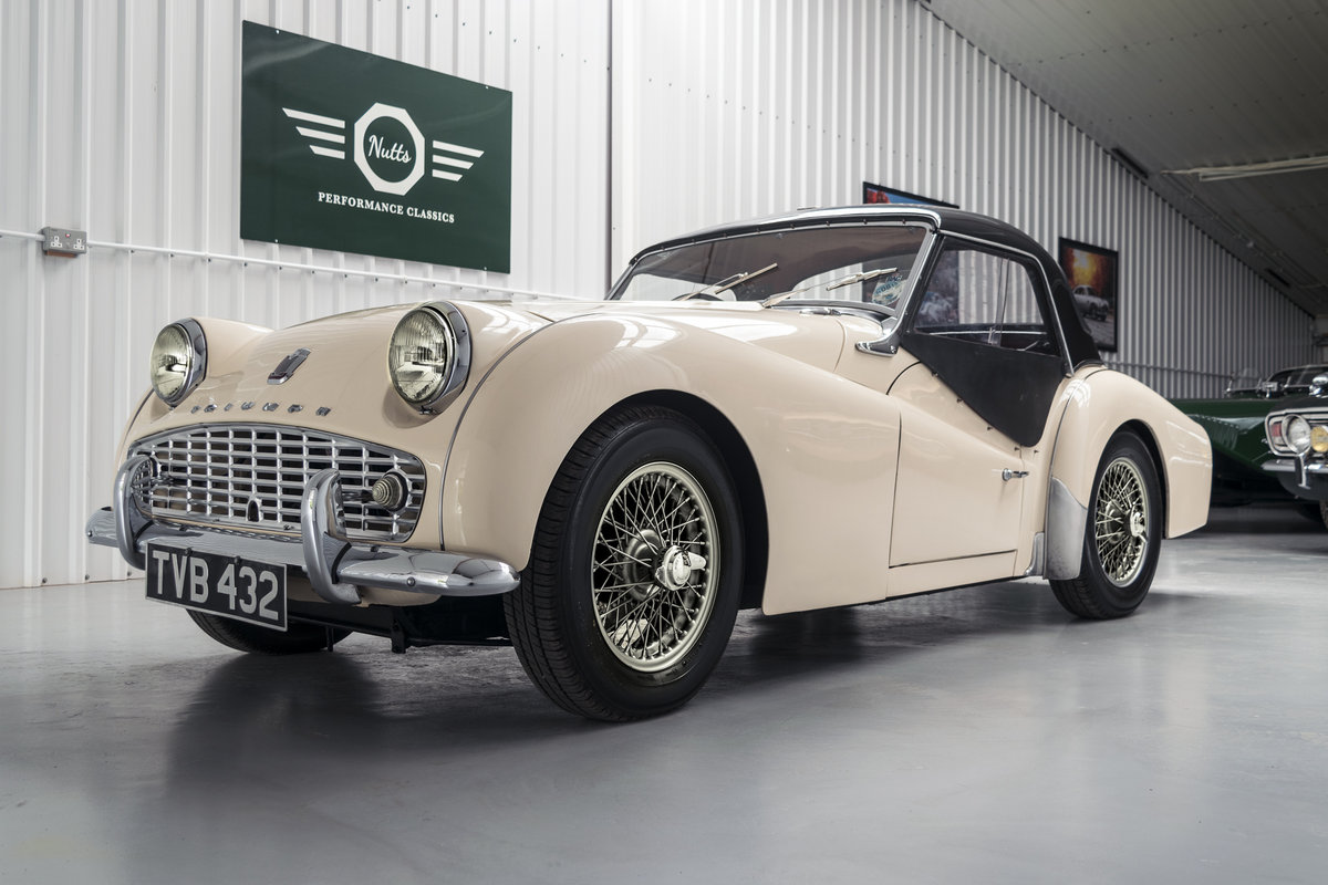 1958 Triumph TR3 A with works hard top, Beautiful condition SOLD (picture 4 of 6)