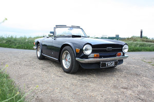 1969 TRIUMPH TR6 ROYAL BLUE WITH SHADOW BLUE INTERIOR SOLD