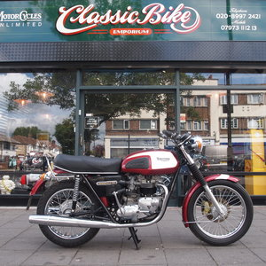 1975 T140 Restored in 2004 and kept in collection. SOLD