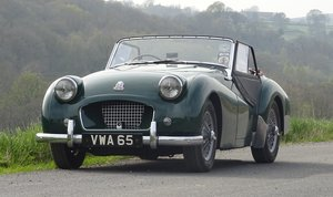 1955 Triumph TR2 British Racing Green Beautiful Classic Car SOLD