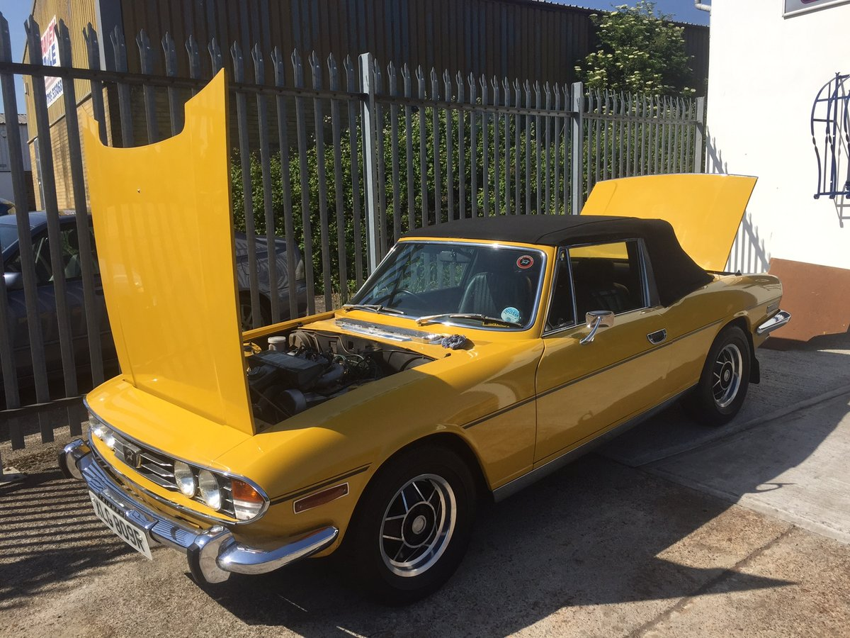 Inca Yellow Triumph Stag.1976. 60,000 miles. For Sale (picture 1 of 5)