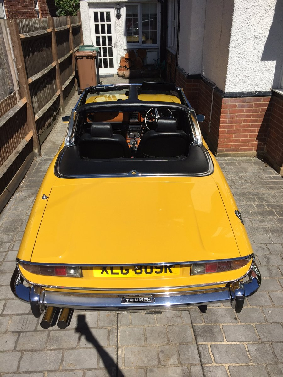 Inca Yellow Triumph Stag.1976. 60,000 miles. For Sale (picture 4 of 5)
