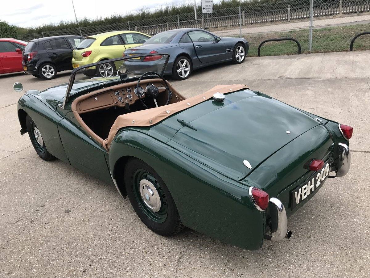 1955 Triumph TR2 WITH OVER DRIVE - SHORT DOOR SOLD (picture 2 of 6)