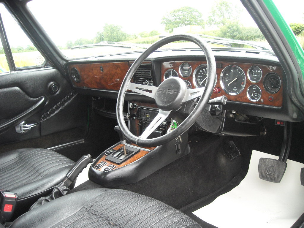 1974 TRIUMPH STAG MK2 AUTO IN STUNNING JAVA GREEN NOW SOLD
