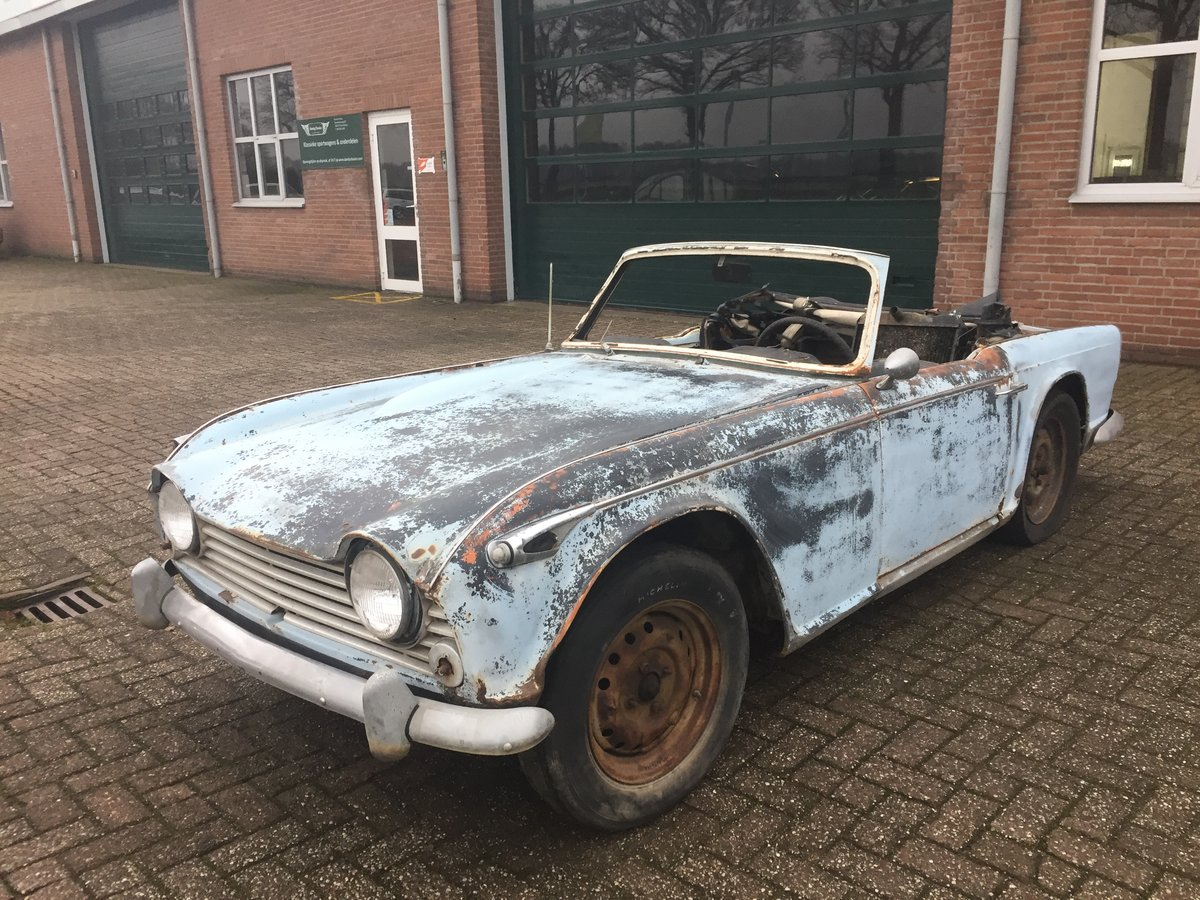 1967 Triumph TR4A for restoration   LHD solid axle model SOLD (picture 1 of 6)